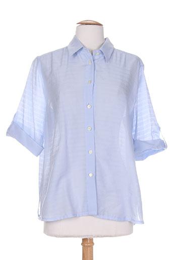 pier bé chemises femme de couleur bleu
