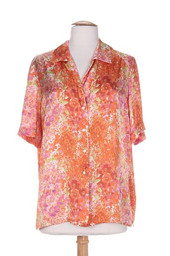 pier bé chemises femme de couleur orange