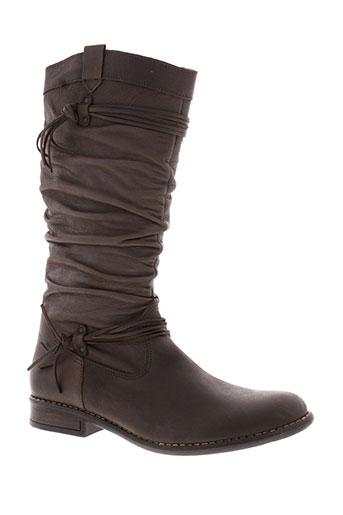 bellamy bottes femme de couleur marron