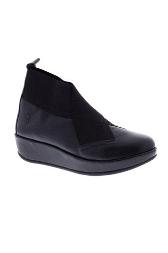 fly et london boots femme de couleur noir