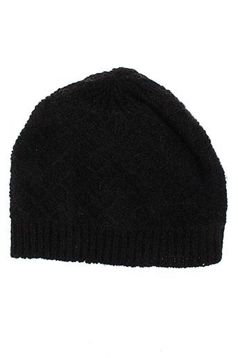 angiolo et frasconi chapeaux et bonnets femme de couleur noir