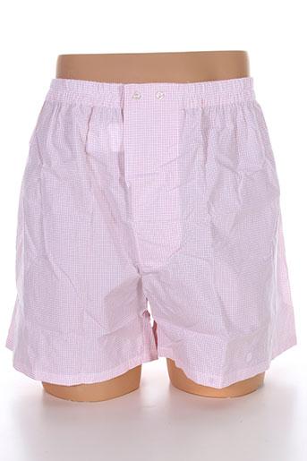 serge blanco lingerie homme de couleur rose