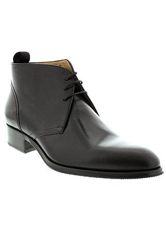 serge et blanco boots homme de couleur noir