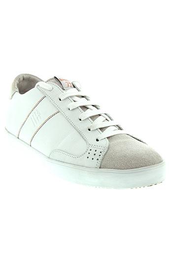 serge blanco chaussures homme de couleur blanc