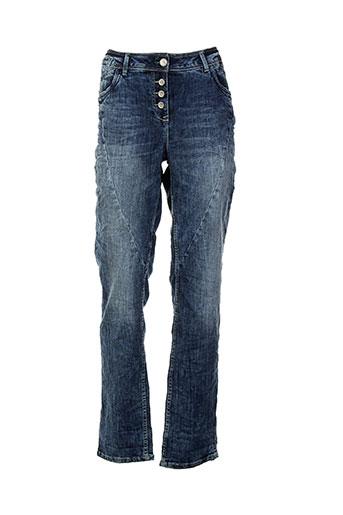 cecil jeans et coupe et droite femme de couleur bleu