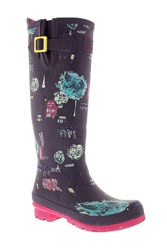 joules bottes femme de couleur violet