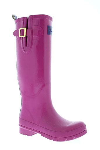 joules bottes femme de couleur rose
