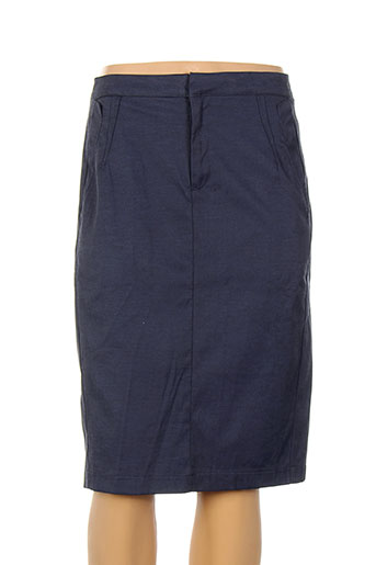 Jupe mi-longue bleu BOHEMIA pour femme