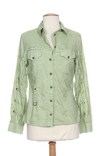 einstein chemises femme de couleur vert