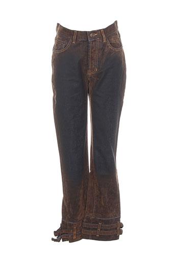 cheyenne jeans femme de couleur marron