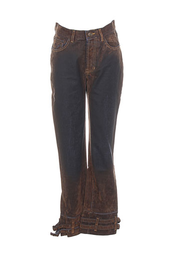 Jeans coupe droite marron CHEYENNE pour femme