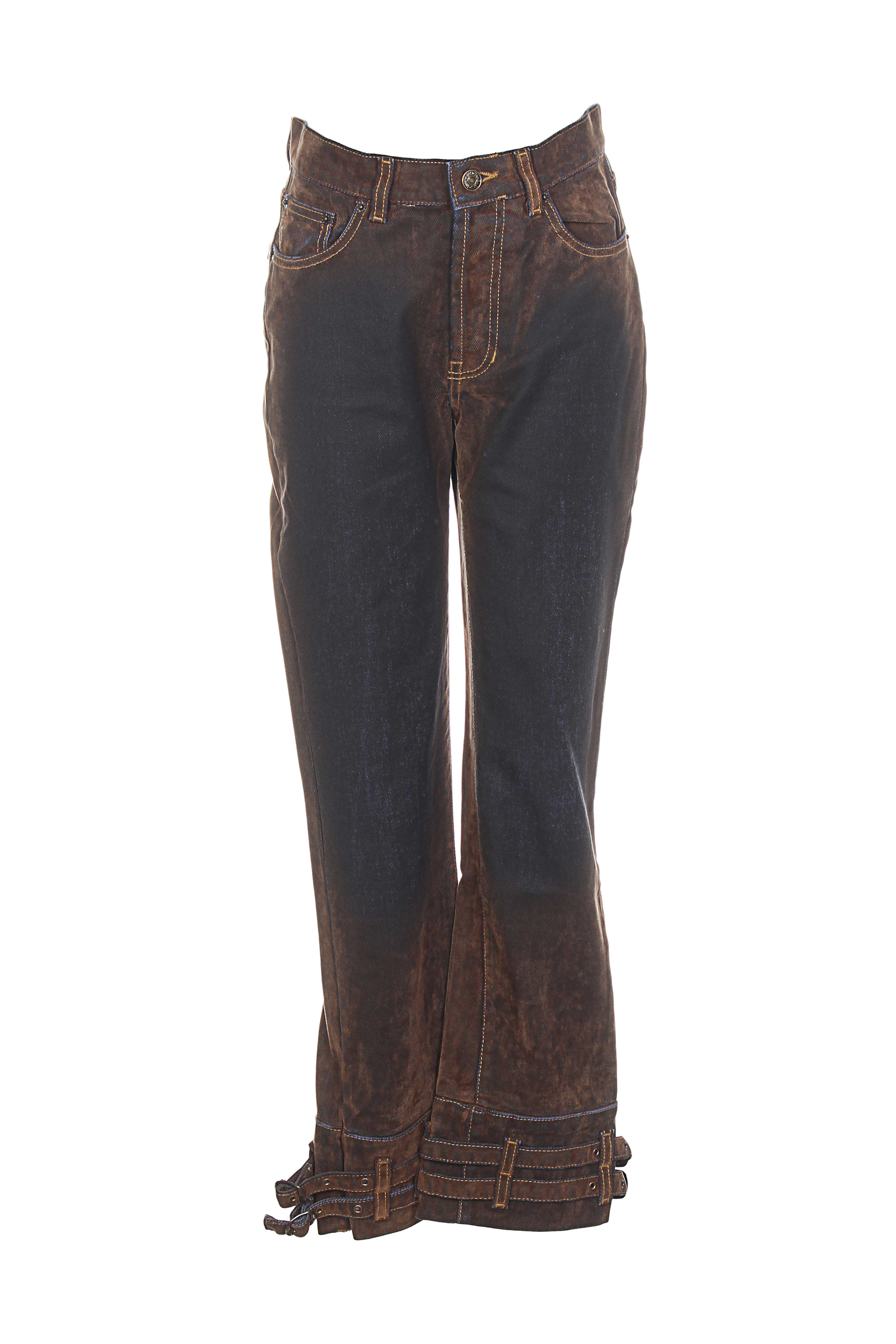 Cheyenne Jeans Coupe Droite Femme De Couleur Marron En Soldes Pas Cher 914261-marron - Modz