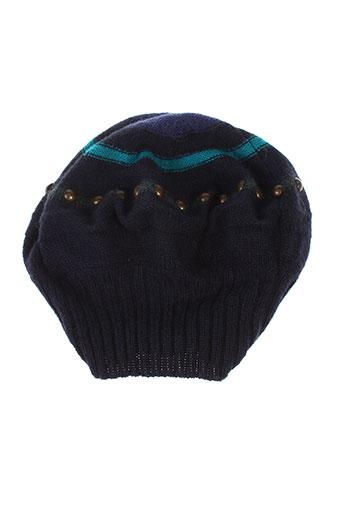 chacok chapeaux et bonnets femme de couleur bleu