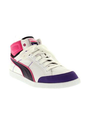 puma chaussures femme de couleur blanc