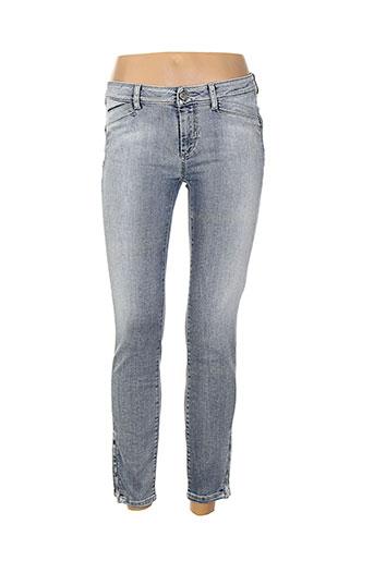 sportmax jeans femme de couleur bleu