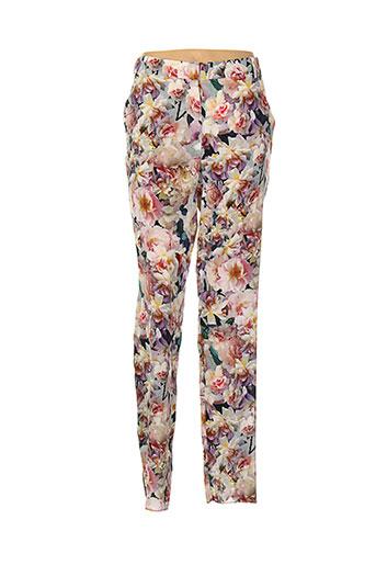 sportmax pantalons femme de couleur violet
