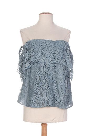 orna farho chemises femme de couleur bleu