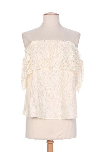 orna farho chemises femme de couleur beige