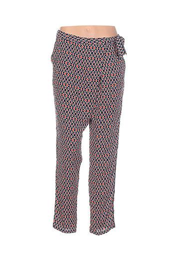 just orna pantalons femme de couleur rouge