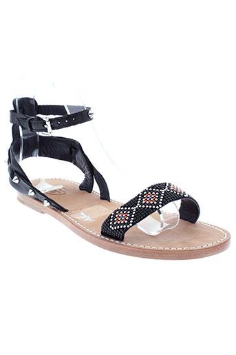 ash sandales et nu et pieds femme de couleur noir