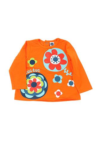 tuc tuc t-shirts fille de couleur orange