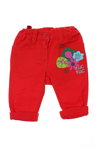 tuc tuc pantalons garçon de couleur rouge