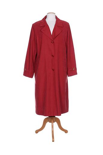 claude havrey manteaux femme de couleur rouge