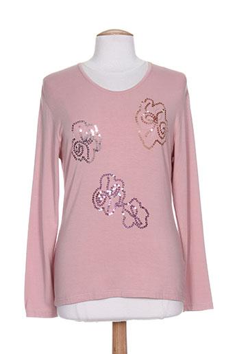 villa bleue t-shirts / tops femme de couleur rose