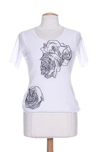 villa bleue chemises femme de couleur blanc