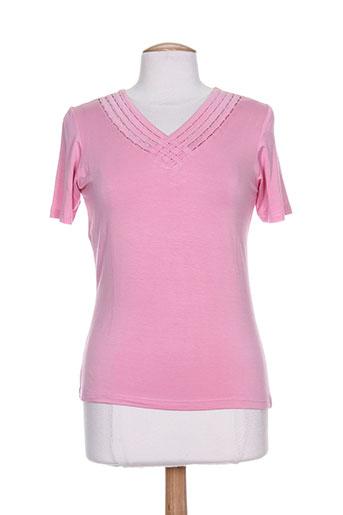 villa bleue t-shirts femme de couleur rose