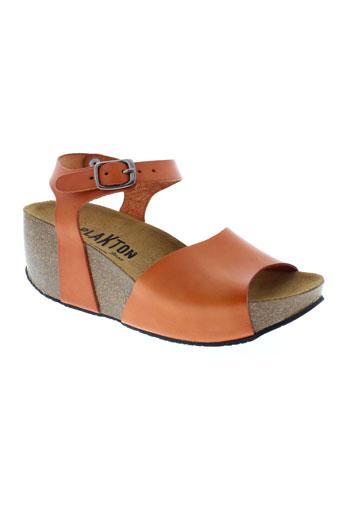 plakton sandales et nu et pieds femme de couleur orange