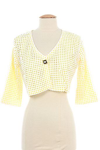 lo! les filles vestes femme de couleur jaune
