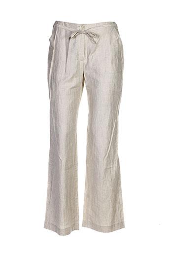 giorgia netti pantalons femme de couleur beige