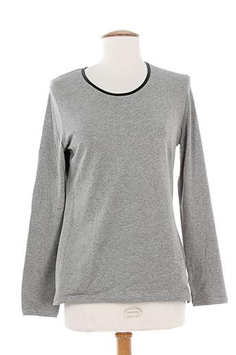 leyenda EFFI_CHAR_1 co t-shirts / tops femme de couleur gris