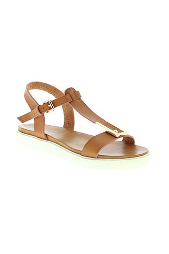 delires de fille chaussures femme de couleur marron