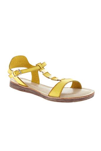 delires de fille chaussures femme de couleur jaune