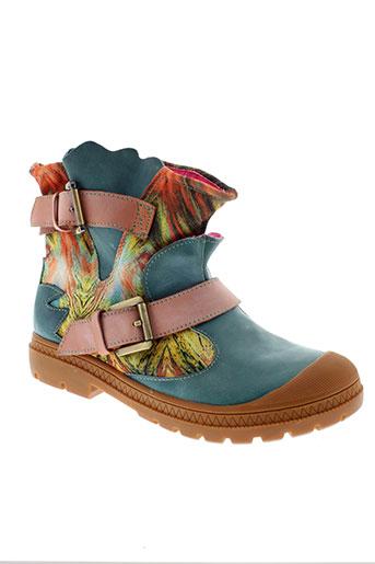 laura et vita boots femme de couleur bleu