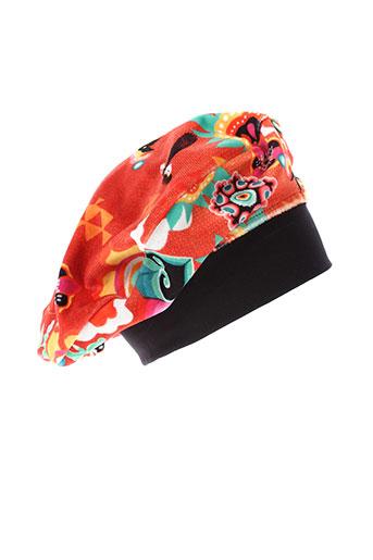 anatopik chapeaux et bonnets femme de couleur orange