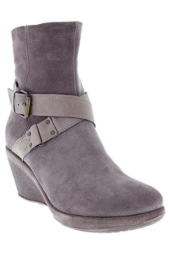 khrio boots femme de couleur gris