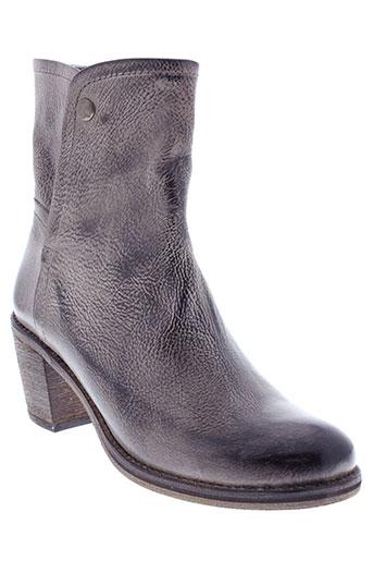 pinto et di et blu boots femme de couleur gris