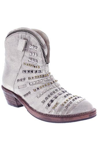 area et forte boots femme de couleur gris