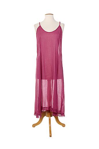 Robe longue rouge AU HASARD D'UN VOYAGE pour femme