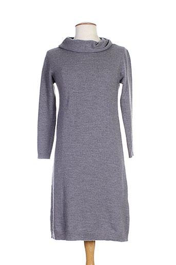 Pull tunique gris GUIDO LOMBARDI pour femme