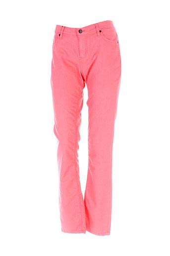 elo pantalons femme de couleur orange