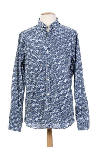 kaporal chemises homme de couleur bleu