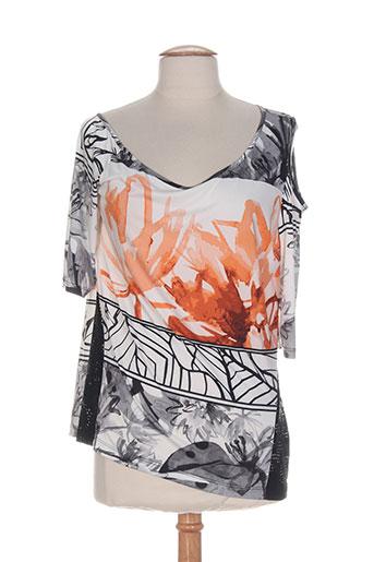 eroke chemises femme de couleur orange