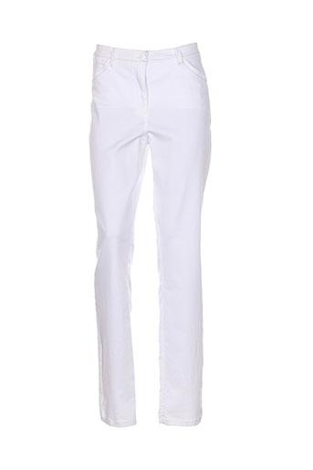 sbelt jeans pantalons femme de couleur blanc