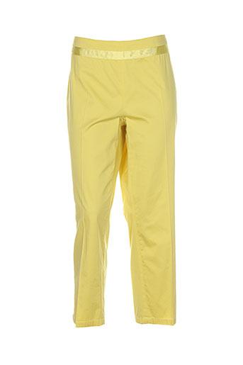 airfield pantacourts femme de couleur jaune