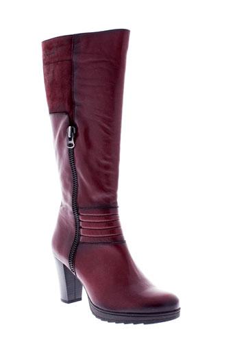 dorking bottes femme de couleur rouge