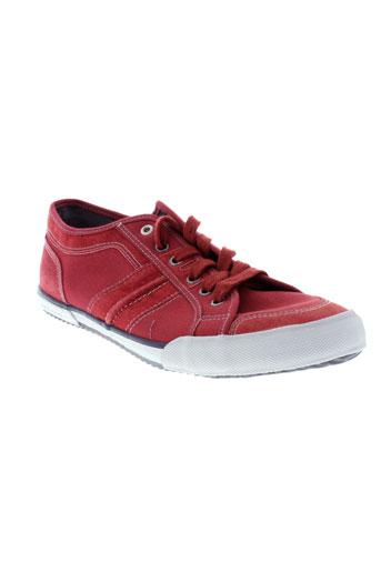 tbs baskets homme de couleur rouge